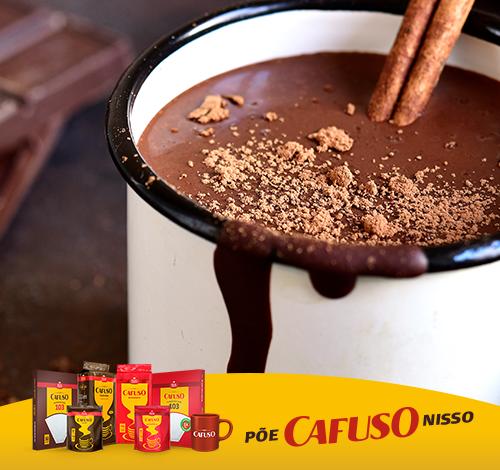 Receita de chocolate quente cremoso com café