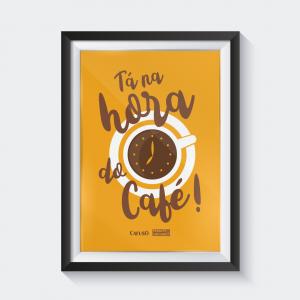 quadros para cantinho do café - moldura de madeira