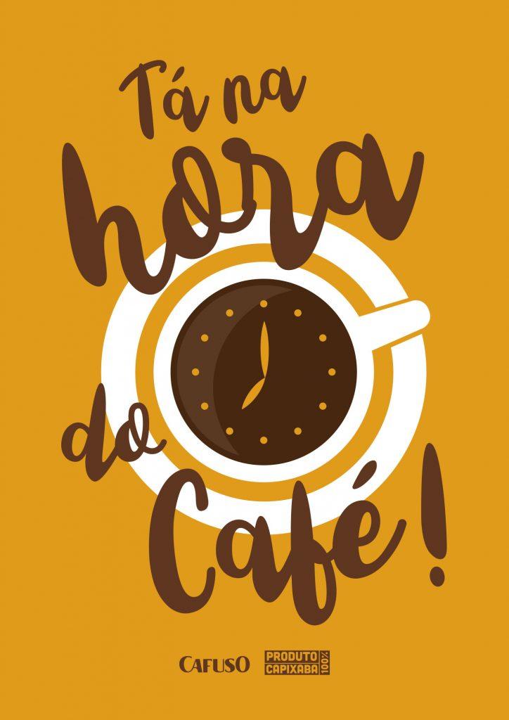"""Quadro-de-cantinho-do-café-para-imprimir-com-a-frase-""""Tá-na-hora-do-café"""""""